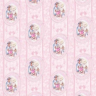Dolls House Wallpaper 1/12th 1/24th scale Nursery  Pink Quality Paper #133
