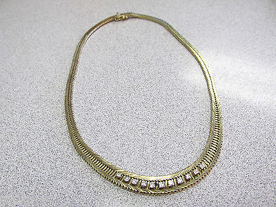 Beautiful Heavy Duty Estate Diamond Necklace  16 inch 14k Gold   Make Offer