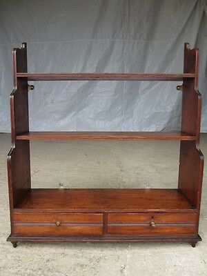Victorian pitch Pine standing or wall waterfall bookcase/shelves (ref 266)