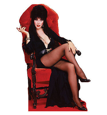 ELVIRA Sitting Mistress of the Dark CARDBOARD CUTOUT Standup Standee Poster F/S