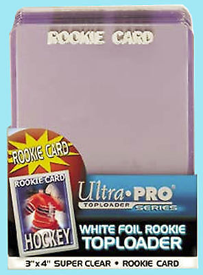 25 Ultra Pro 3x4 ROOKIE WHITE FOIL TOPLOADERS NEW Standard Size Card Sports