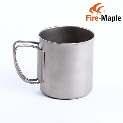 Fire Maple Titanium Camping Water Cup Coffee Mug Portable Water Bottle 330ml 55g