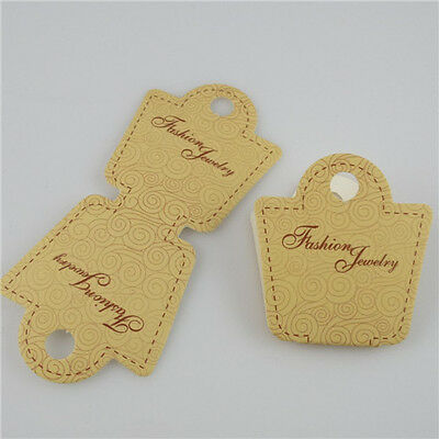 200PCS Paper Necklace Bracelet Hanging Card Jewelry Display Packaging Cards