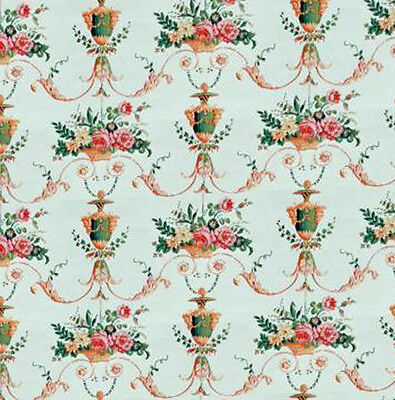 Dolls House Wallpaper 1/12th 1/24th scale Floral Quality Paper #198