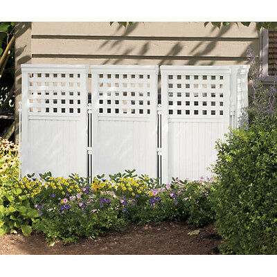 NEW Suncast FS4423 Outdoor Screen Enclosure 4 Panel Gate Fence Resin Steel Posts