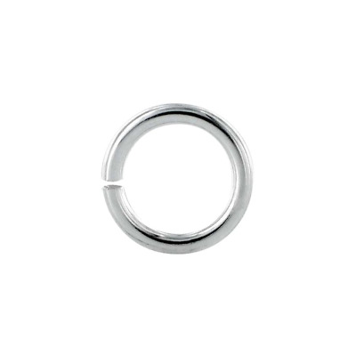 Silver Overlay Open Jump Ring Twisted Oxidised JOSF-102-8MM