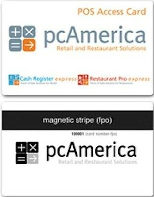 Employee Access Cards pack of 25 for pcAmerica CRE/ RPE & Corner Store POS, NEW