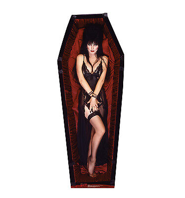ELVIRA Coffin Mistress of the Dark CARDBOARD CUTOUT Standup Standee Poster F/S