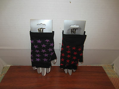 2 In 1 Fingerless Mesh Gloves Stars  Hot Topic Different Colors To Choose From