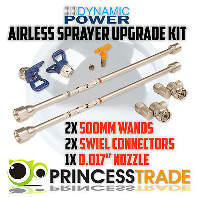 Upgrade Kit Extension Wands Pole Swivel Connectors Nozzle Airless Paint Sprayer