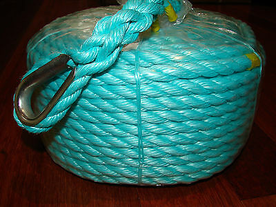 12mm x 50m Anchor Rope, Mooring etc STRONG 2212Kg *NEW*FLAT $15 POSTAGE