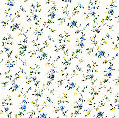 Dolls House Wallpaper 1/12th 1/24th scale Blue Quality Paper #233