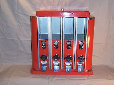 Vintage Rare Countertop Candy Nut Vending Machine ArtDeco Coin OP Dispenser 4 1