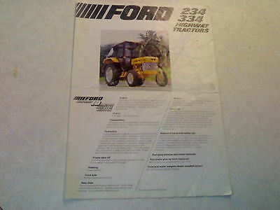 ford 234 334 highway tractors lp cab sale brochure 1 page