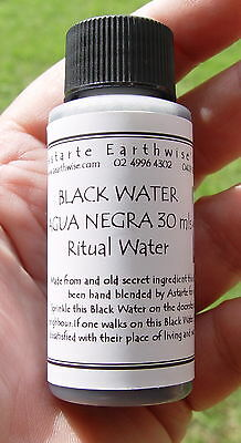 BLACK WATER 30 mls Wicca Witch Pagan Spell Goth REMOVE NEGATIVITY & PEOPLE