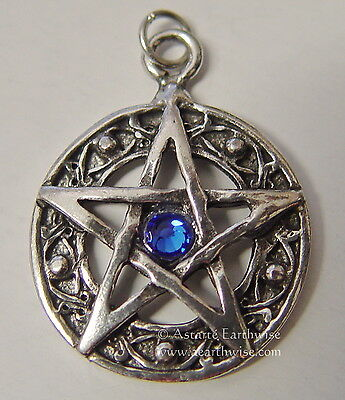PROTECTED LIFE *BLUE PENTAGRAM AMULET Wicca Pagan Witch Goth PROTECTION