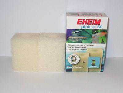 EHEIM 2617080 PICK UP 60 2008 Cartridge Foam x2 Aquarium Filter 261708