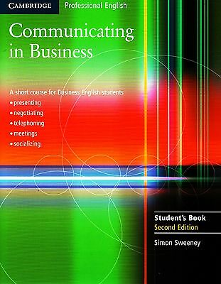 Cambridge English COMMUNICATING IN BUSINESS  2nd Edition Student's Book @NEW@