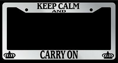 KEEP CALM AND LIFT supreme chrome metal license plate frame Free Caps