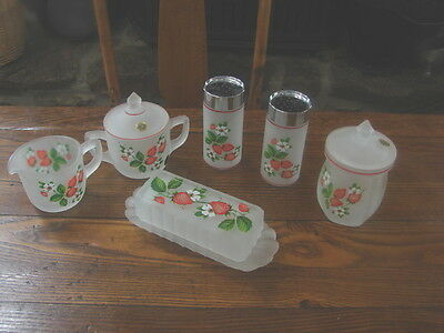 Lot of Westmoreland Strawberry Table Accessory Set