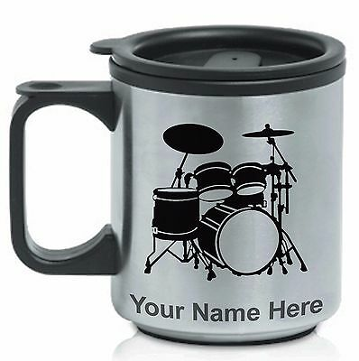 Personalized Stainless Steel Coffee Mug - DRUM SET, DRUMMER