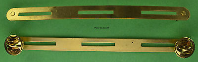 3 ON BRASS RIBBON U.S. MILITARY HOLDER MOUNTING BAR - Made in the USA