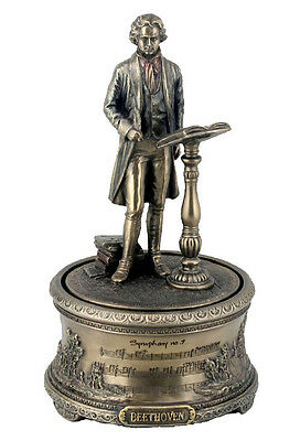 "Beethoven's ""9th Symphony"" Music Box Statue Sculpture Figure - WE SHIP WORLDWIDE"