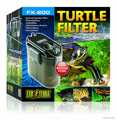 Exo Terra Fx-200 Turtle External Hang On Canister Filter + Media Fish Tank
