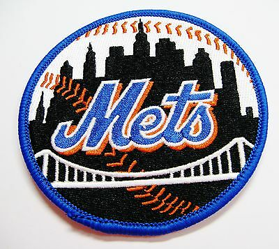 "(1) Lot Of Baseball New York Mets Patch  Patches (3 1/2"" Round) Item # 62"