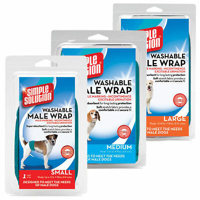NEW Simple Solution Washable Male Wrap Nappies Nappy Washable Dog Pants