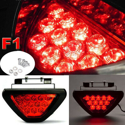 12-LED Rear Tail Brake Stop Light strobe safety Fog DRL F1 style Third Reverse