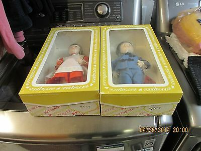 Effanbee #7501 & 7511 Chinese Boy/Girl with Boxes/Tags  Tiger & Orange Blossom