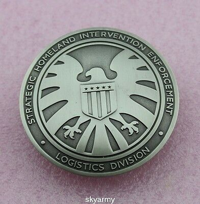 The Avengers Agents of  shield S.H.I.E.L.D. Badge full size Brass -Replica