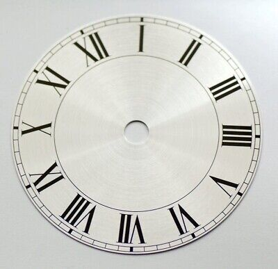 Clock dial 5 inches 128mm roman numerals on silver background new dials clocks