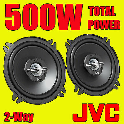 JVC 500W TOTAL 5 INCH 13cm 2-Way CAR/VAN DOOR SHELF COAXIAL SPEAKERS NEW PAIR