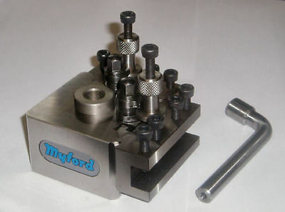 New Myford quickchange toolpost holders vee parting extended Direct from Myford