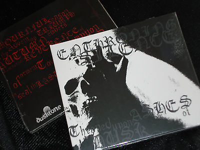 ENTHRONING SILENCE Throned Upon Ashes Of Dusk CD Italian DSBM mortuary drape NEW
