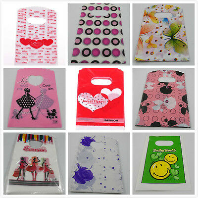 Free Shipping New 50pcs Shopping Small Plastic Packing Gift Bag 15x9cm Wholesale