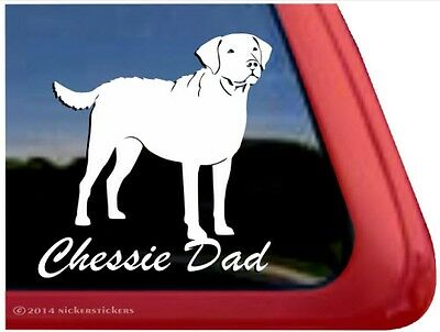 Chessie Dad | Quality Chesapeake Bay Retriever Gun Dog Window Decal Sticker