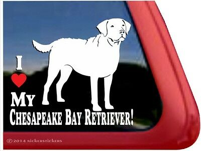 I Love My Chesapeake Bay Retriever | Quality Vinyl Dog Window Decal Sticker