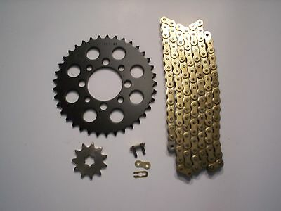 Suzuki Lt50 Lt 50 New 11/37 Sprocket & Gold Chain Set 1984 1985 1986 1987
