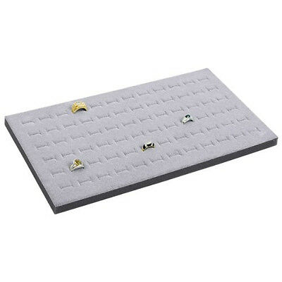wholesale 2 Jewelry 72 Slot Ring Foam Display Insert Pad Gray