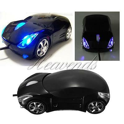 3D Car Shape Optical USB Wired Mouse Mice for Computer PC Laptop Notebook Black
