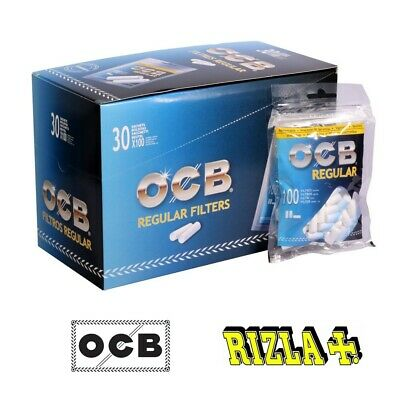 3000 FILTRI OCB REGULAR 8 mm + 5000 CARTINE CORTE A SCELTA RIZLA OCB GIZEH