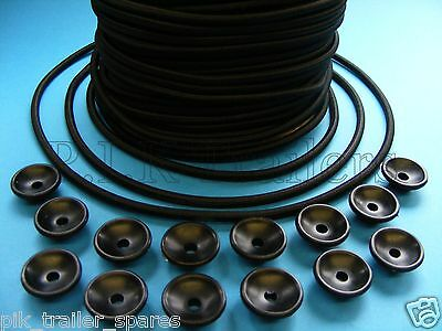 14 x Trailer Button Cleats with 6 Metres of 5mm Bungee Elastic Cord Erde Daxara