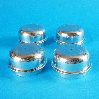 4 x 50mm Metal Grease Dust Wheel Hub Cap for Indespension Trailers etc