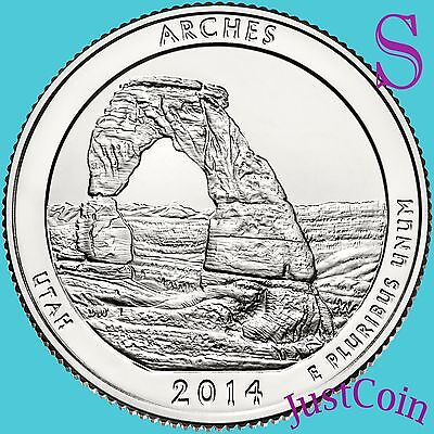 2014-S Arches National Park (Utah) Quarter Uncirculated From Us Mint