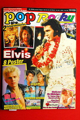 Elvis Presley Cover Queen 1984 Scorpions Rare German Magazine