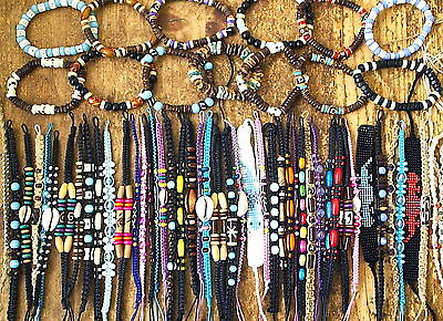 Ethnic Tribal Surfer Bead Bracelets