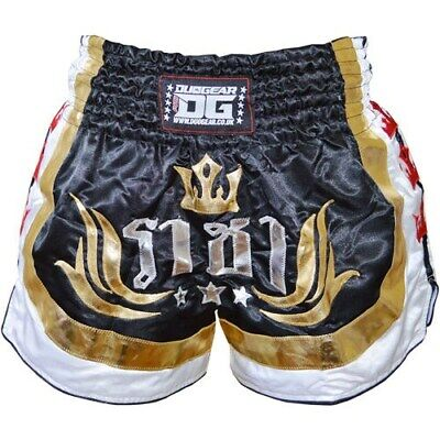 Black Duo Raja Shorts Trunks For Muay Thai Training And Fighting